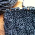 basketweave knitting stitch detail