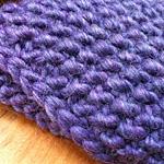 seed stitch knitting detail