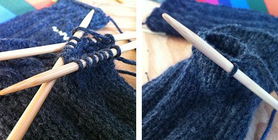 knitting fetching fingerless gloves thumbholes