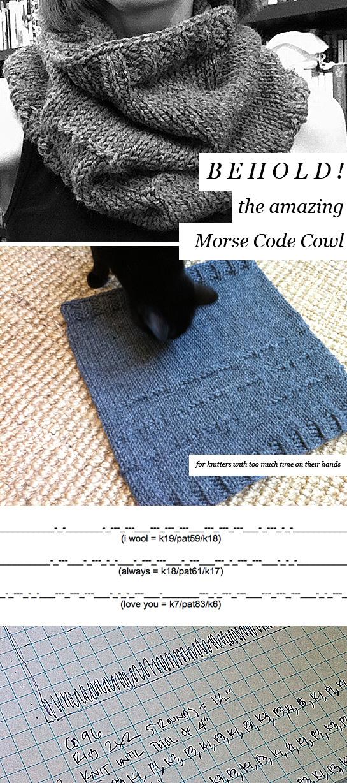 morse code cowl