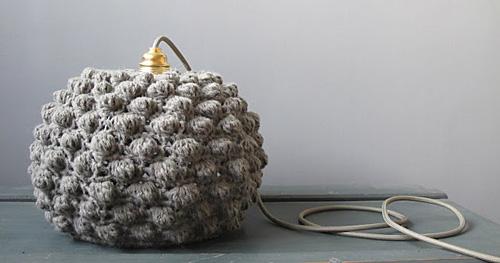 crochet pendant light