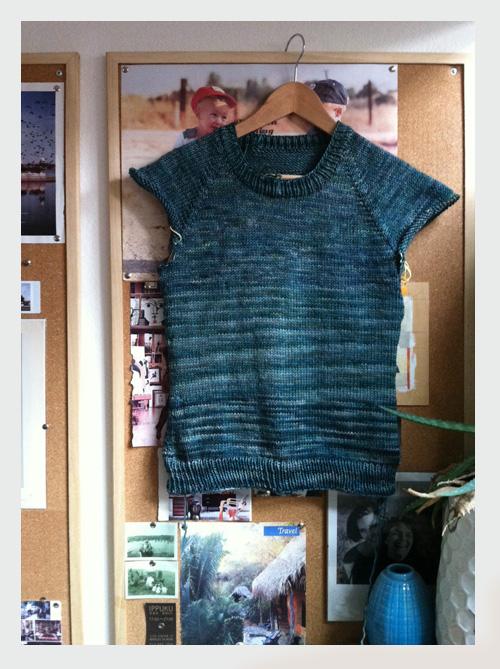 classic raglan pullover work in progress