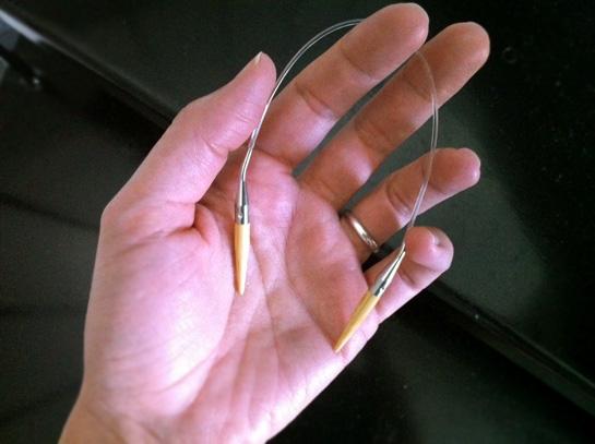9 inch circular knitting needle
