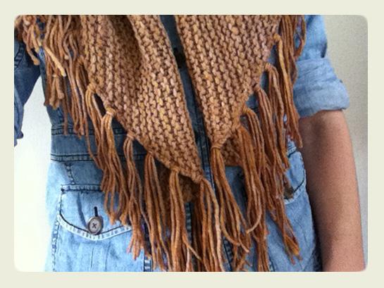 fringe garter shawl