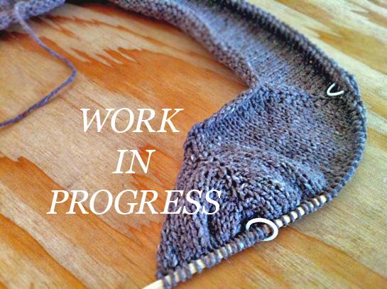 gretchen top-down cardigan knitting in progress