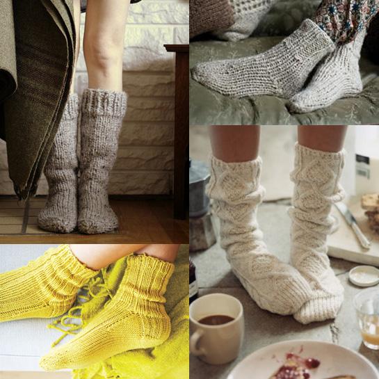 Knitting Pattern For House Socks : socks Fringe Association