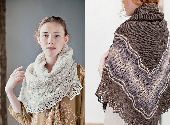 Jared Flood Knitting Patterns : New Favorites: Square-in-the-round shawls Fringe Association