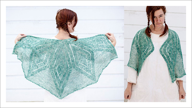 borealis crochet shawl pattern cal patch
