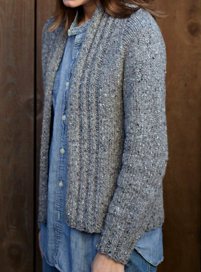 walpole chunky knitted cardigan front