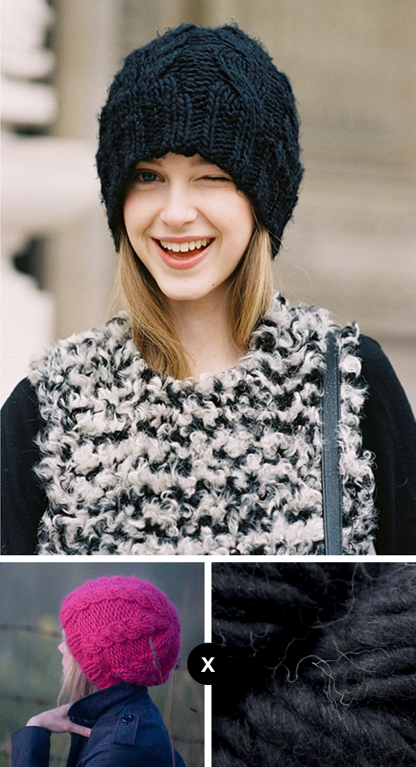 how to knit jemma baines black cable beanie - vanessa jackman photo
