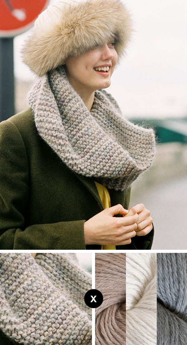 how to knit lindsey wixson's infinity scarf