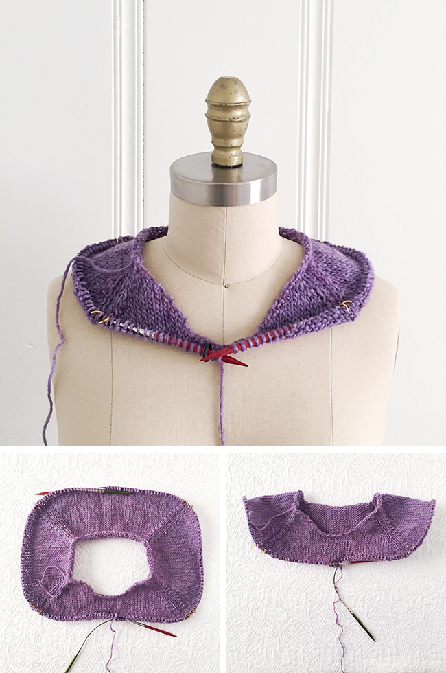 How to improvise a top-down sweater, Part 2: Raglans and neck shaping