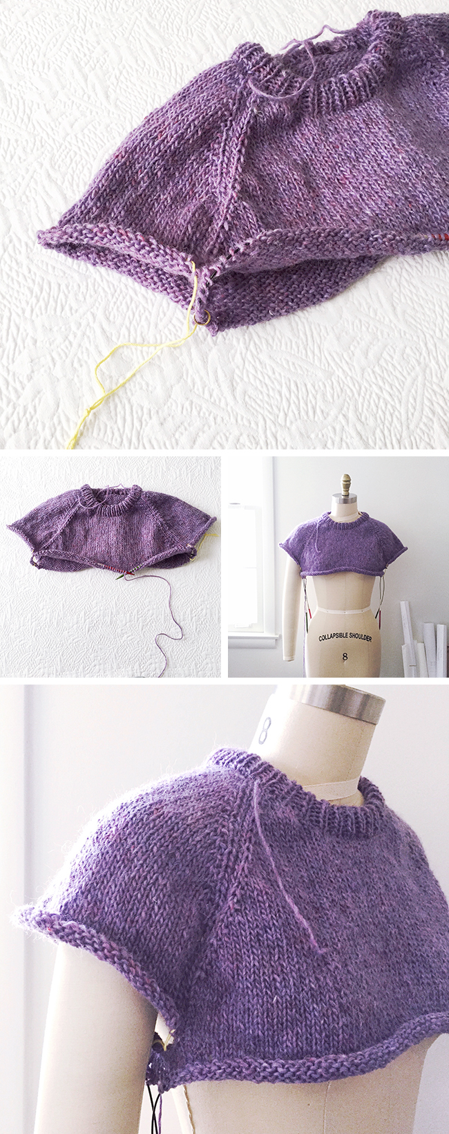 How To Improvise A Top Down Sweater Part 4 Separating The Sleeves