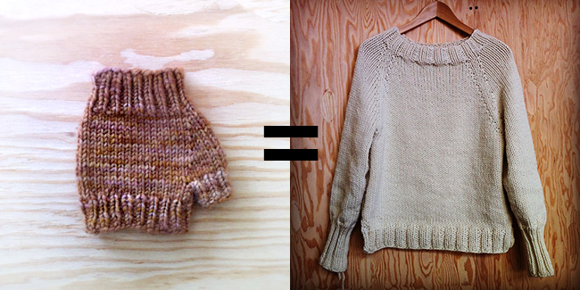 How To Improvise A Top Down Sweater Introduction Fringe Association