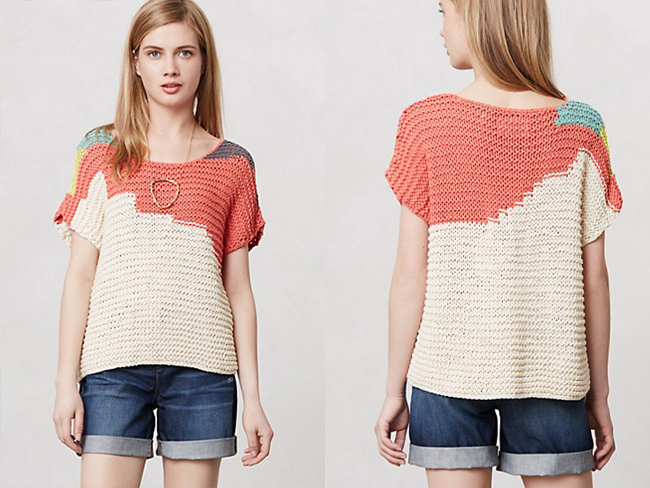 DIY Anthropologie sweater