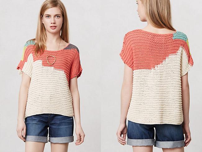 DIY Anthropologie sweater