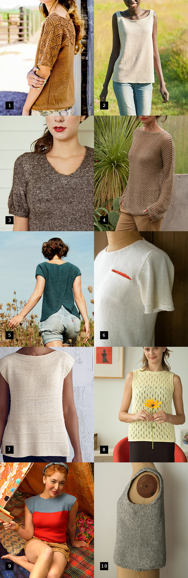 Best summer sweater knitting patterns   Fringe Association