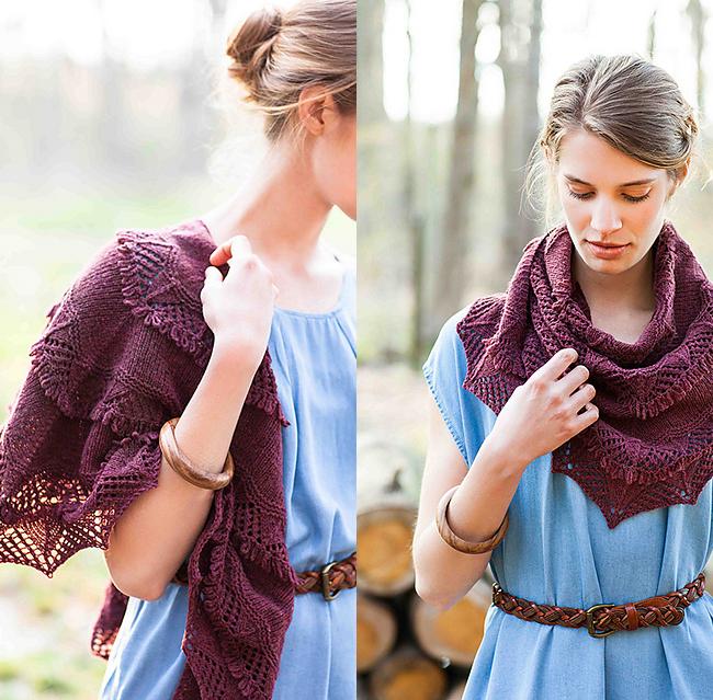 Frida lace shawl designed by Hiroku Fukatsu