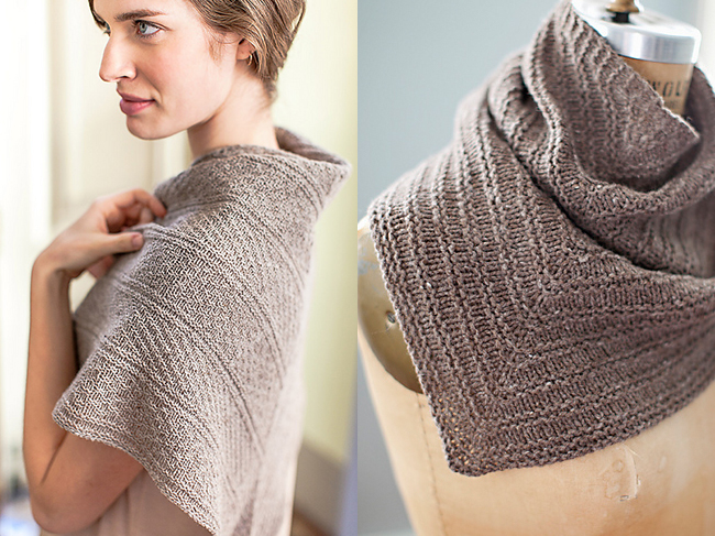 Jared Flood Guernsey Triangle and Romney Kerchief knitting patterns