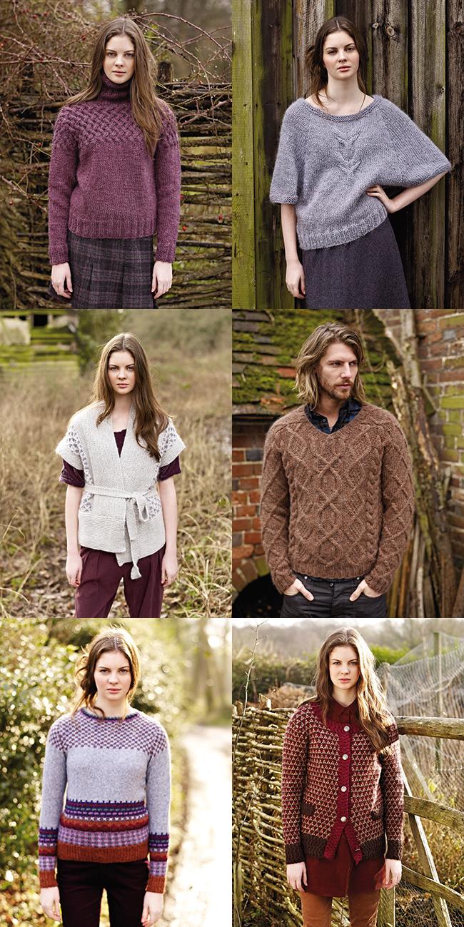 Favorite patterns from Rowan Autumn Knits by Marie Wallin