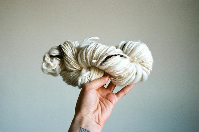 Jess Schreibstein's handspun yarn