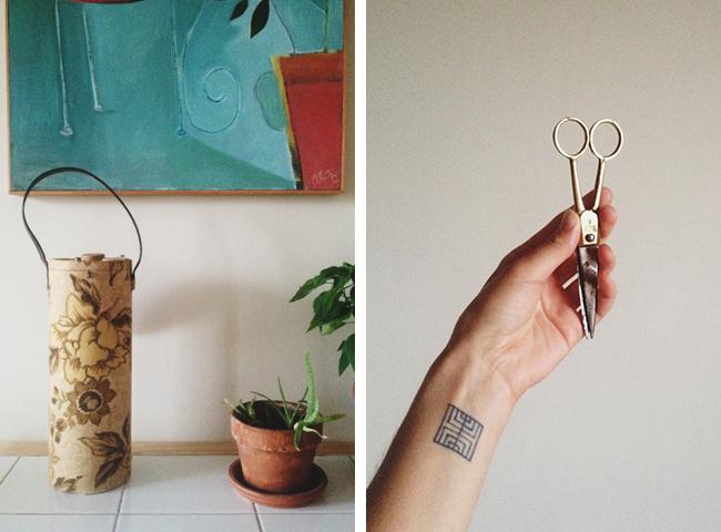 Jess Schreibstein's storage tube and scissors