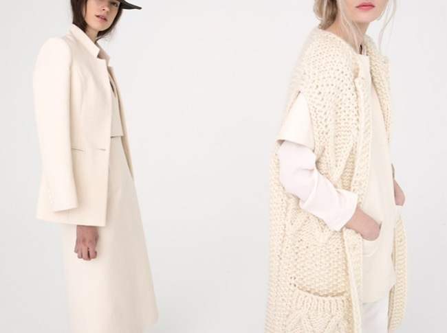 Apiece Apart fall 2013 cardigan-coat sweater