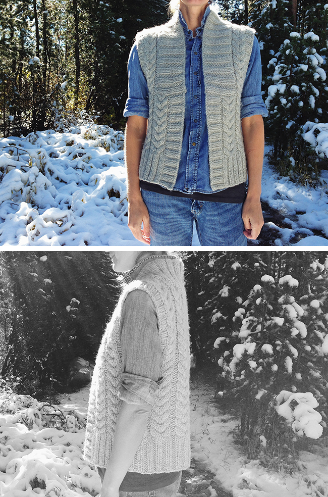 Banana Republic Heritage hand knit cable sweater vest