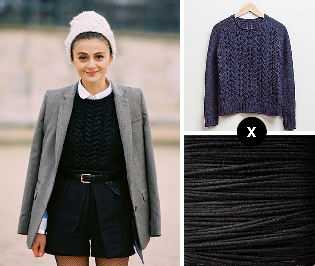 How to knit Natalia Alaverdian's cable sweater