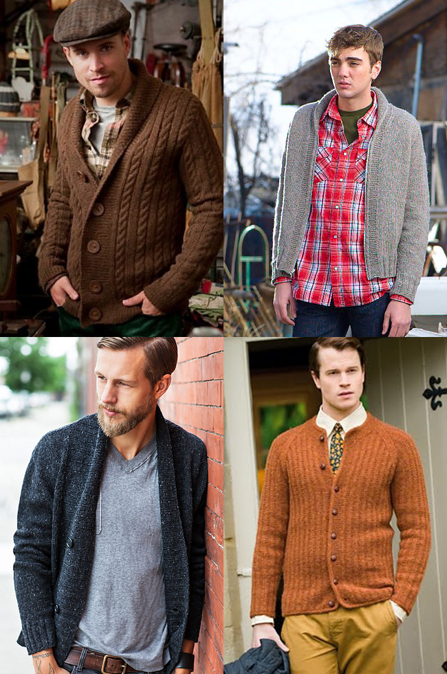 Men's cardigans a girl could love