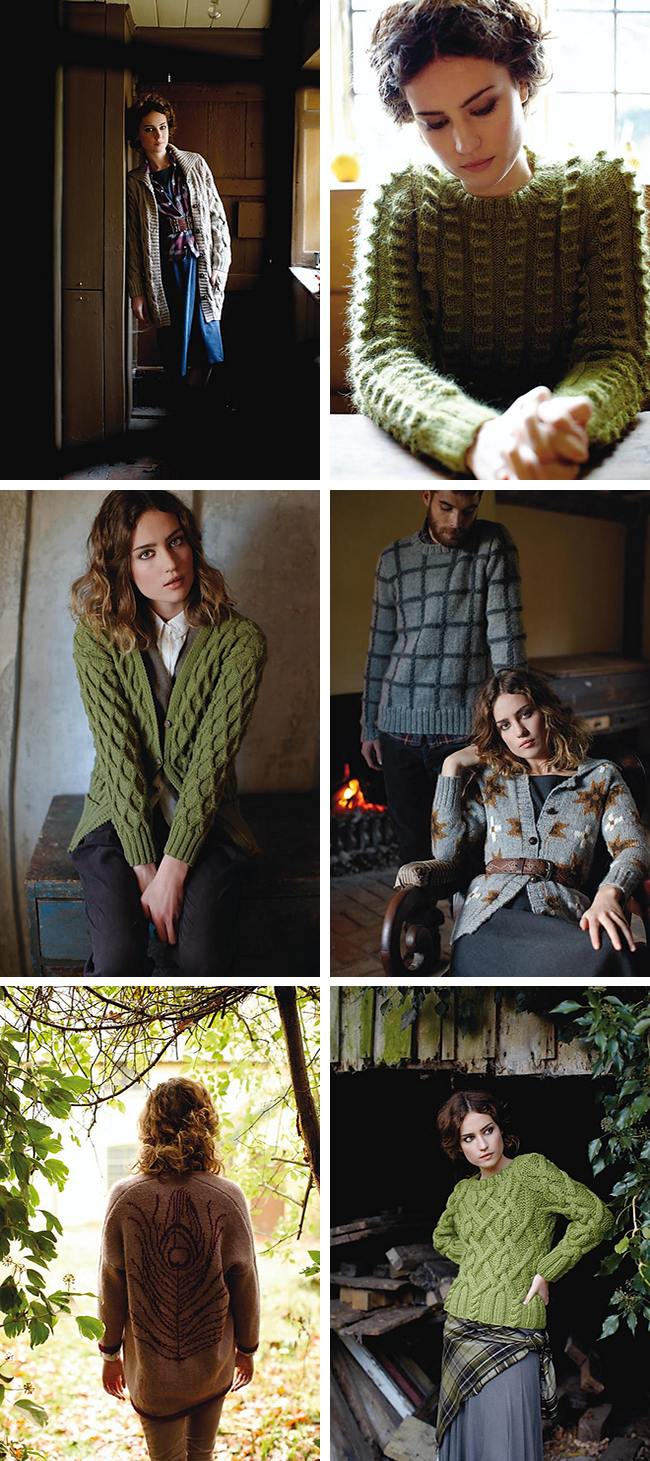 Martin Storey's Pioneer sweater pattern collection from Rowan