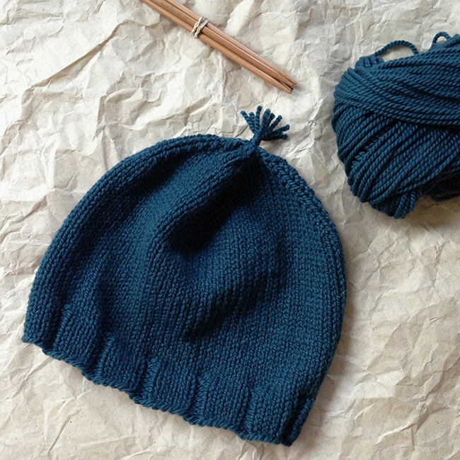 Purl Bee Simple Rib Hat in Worsted Twist
