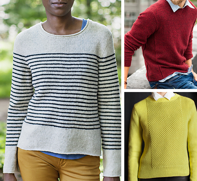 Seamed sweater patterns for first-timers