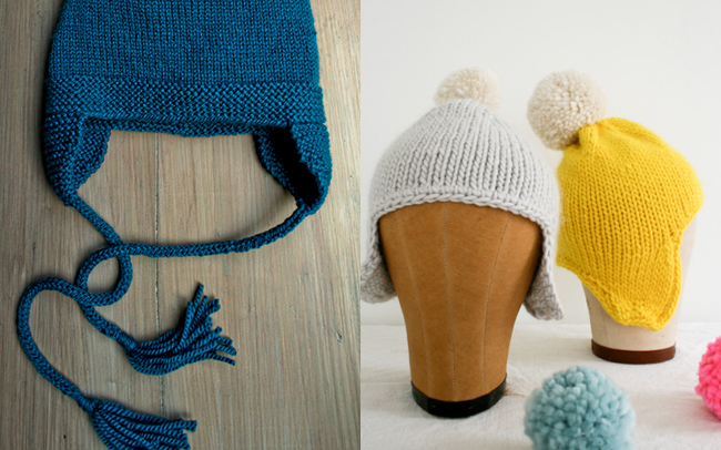 Earflap hat knitting patterns