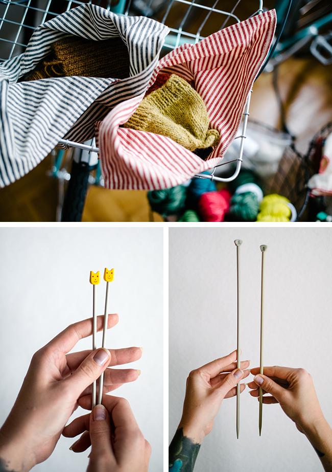 Lauren of Susk & Banoo knitting needles