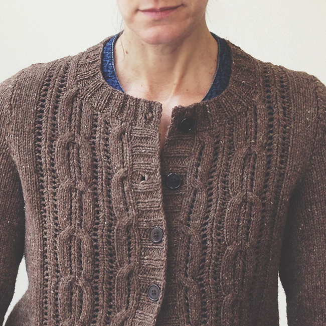 Acer cardigan as knitted by Karen Templer / Fringe Association