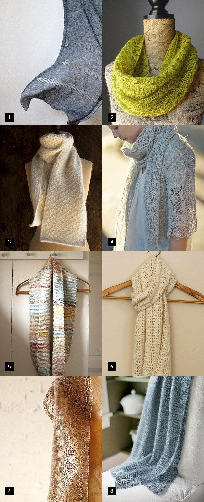 Pretty spring scarves: Or, what to knit for Mother's Day
