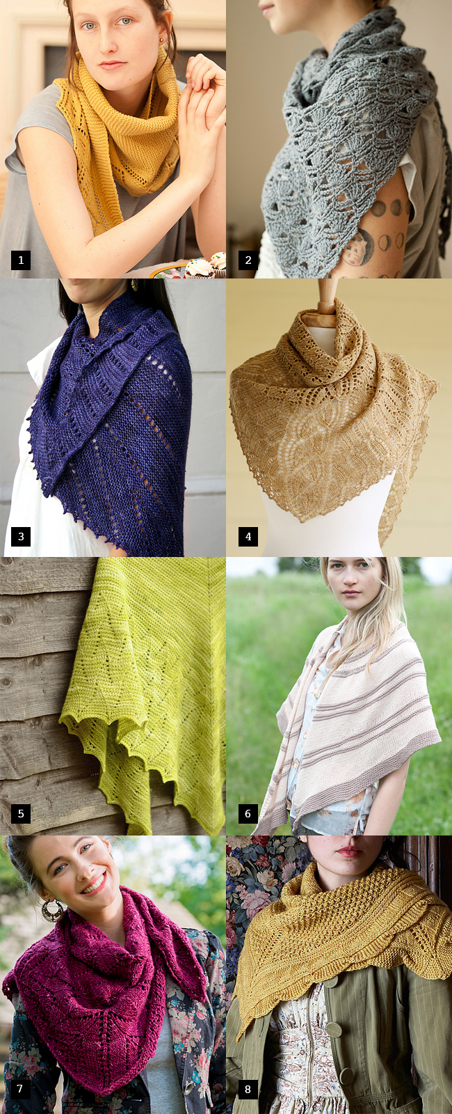 Sweet spring shawls: Or, what to knit for Mother's Day, part 2