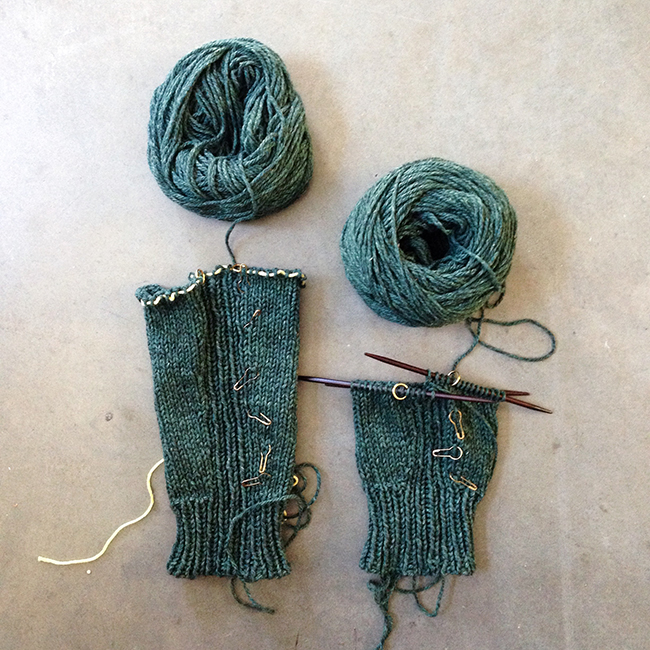 #knittingforhimalong sleeves in progress