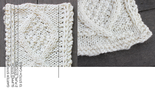How To Knit And Measure A Cable Swatch Fringe Association