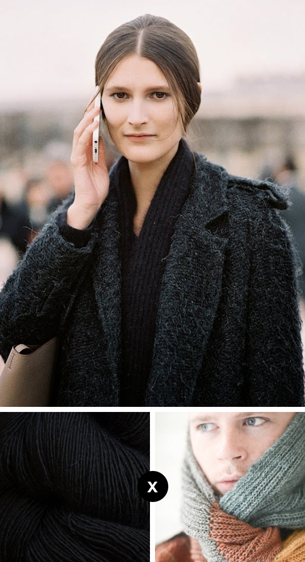 Knit the Look: Marie Piovesan's luscious scarf