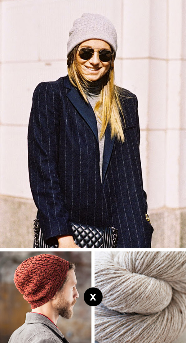 Knit the Look: Danielle Bernstein's cable beanie