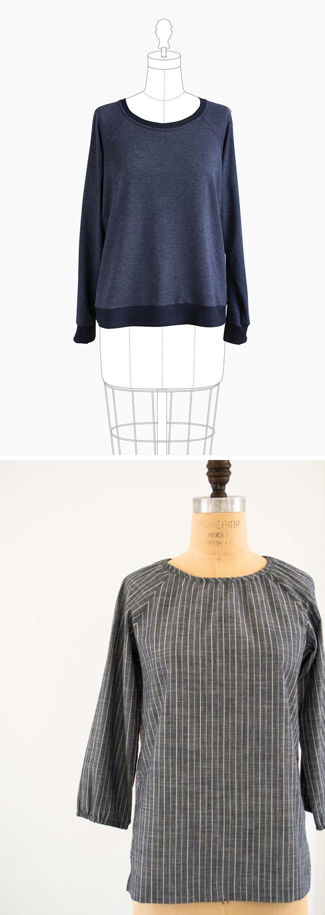 Winter wardrobe fix, part 1: Simple sewn tops