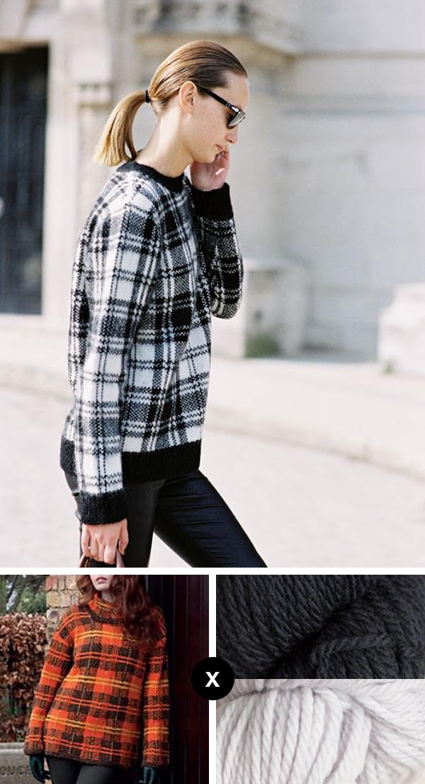 Knit the Look: Alex Yuryeva's plaid pullover