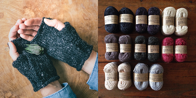 Wabi Mitts kits are back in stock at Fringe Supply Co