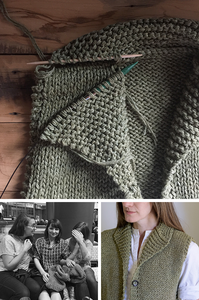 How To Knit A Cowichan Style Shawl Collar Fringe Association