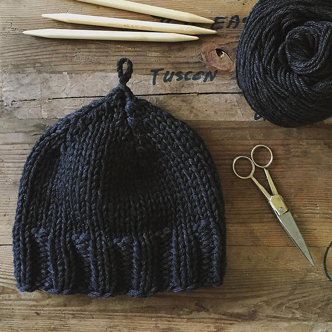 Plait Hat by Karen Templer (free knitting pattern)