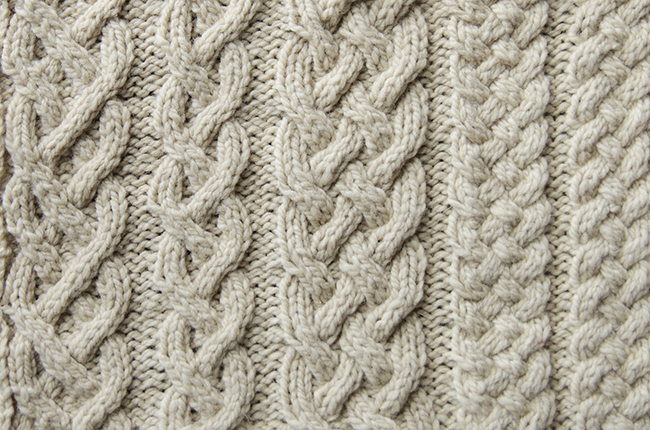 Swatch of the Month: August '16 // Aran sweater legends