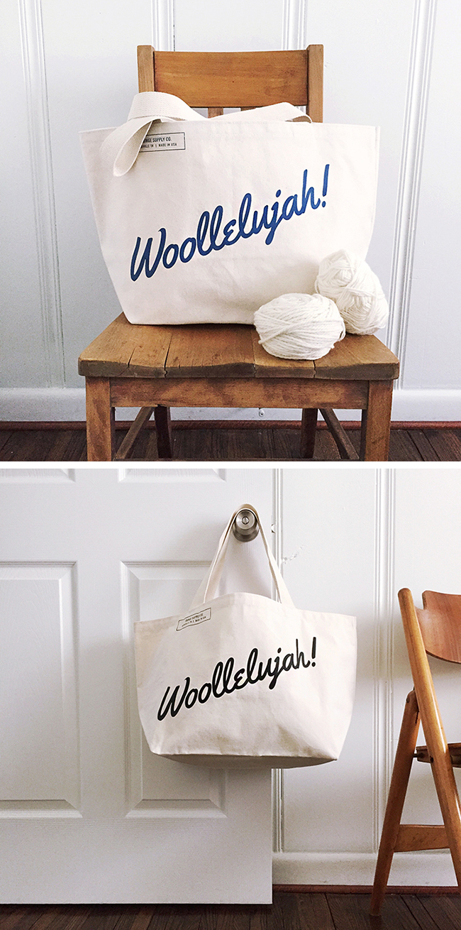 Woollelujah! the new Fringe Supply Co. tote is here