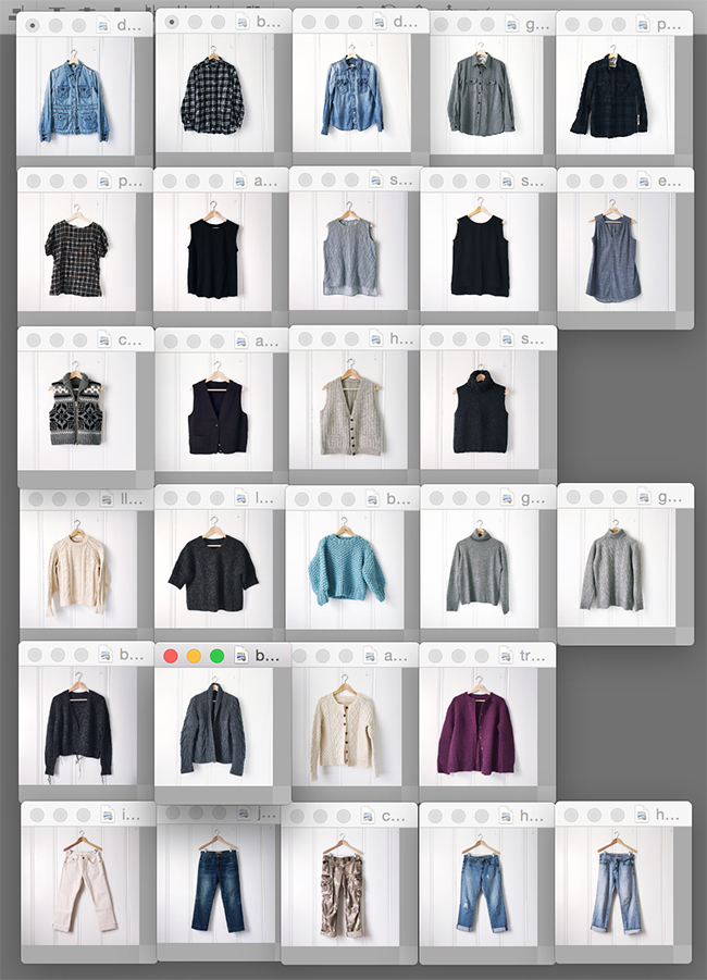 Winter '16 wardrobe planning, Part 2: Closet inventory